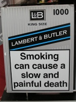 Robust EU warning:  smoking can cause a slow and painful death